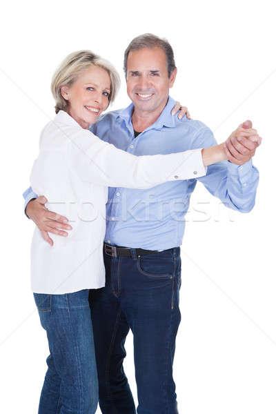 Portré érett pár tánc boldog izolált Stock fotó © AndreyPopov