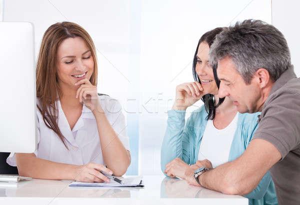 врач пациент счастливым пару Сток-фото © AndreyPopov