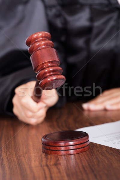 Judge Striking The Gavel In A Courtroom  Stock photo © AndreyPopov