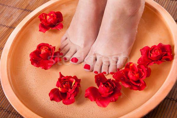 женщины ног аромат терапии Spa Сток-фото © AndreyPopov