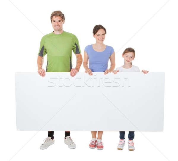 Rodziny odzież sportowa billboard portret Zdjęcia stock © AndreyPopov