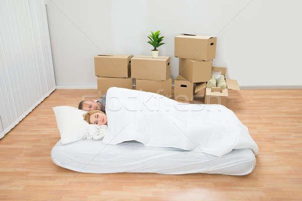 Slapen matras nieuw huis huis home Stockfoto © AndreyPopov