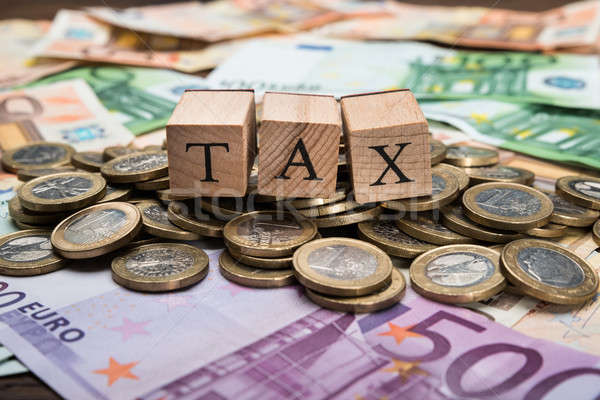 Wooden Blocks With Word Tax On Money Stock photo © AndreyPopov