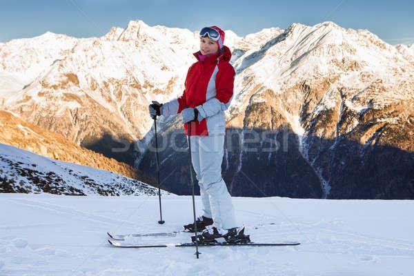 Woman In Skiwear At Ski Resort Solden Stock photo © AndreyPopov