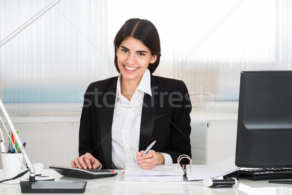 Ragioniere finanziare mutui desk giovani femminile Foto d'archivio © AndreyPopov