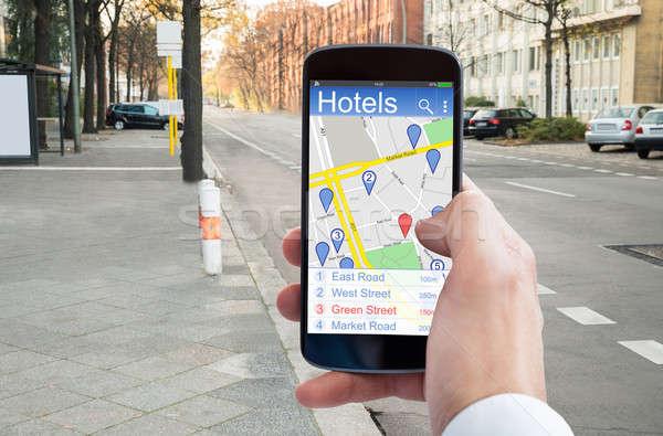 Strony GPS nawigacja Zdjęcia stock © AndreyPopov
