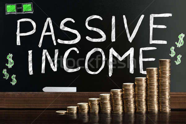 Passive Income Word On Blackboard Stock photo © AndreyPopov