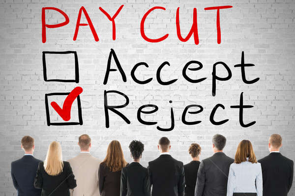 Paycut Rejection Concept Stock photo © AndreyPopov
