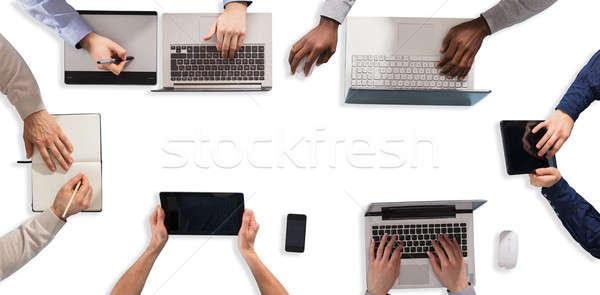 Stockfoto: Werken · elektronische