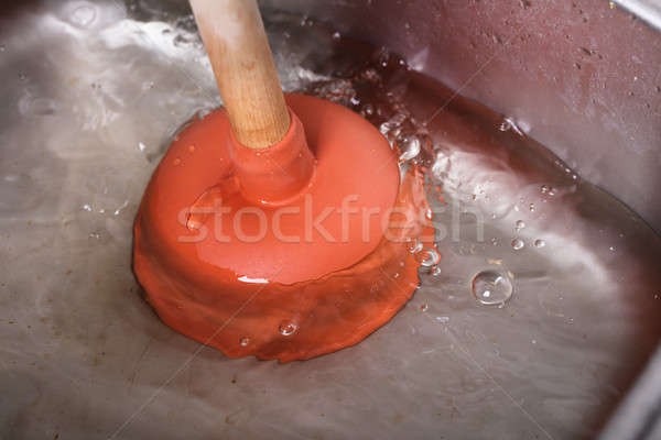 Cleaning Sink With Cup Plunger Stock photo © AndreyPopov