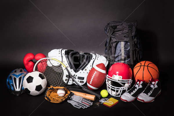 Close-up Of Various Sport Equipments Stock photo © AndreyPopov