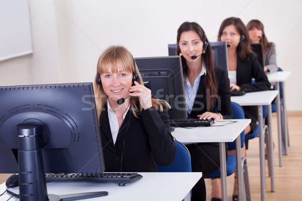 Telephonists in a call centre Stock photo © AndreyPopov