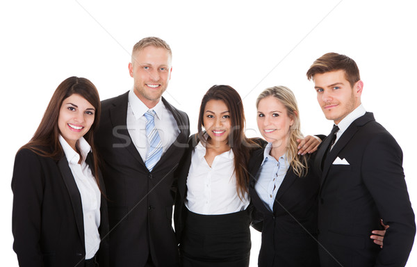 Portrait Of Businesspeople Against White Background Stock photo © AndreyPopov
