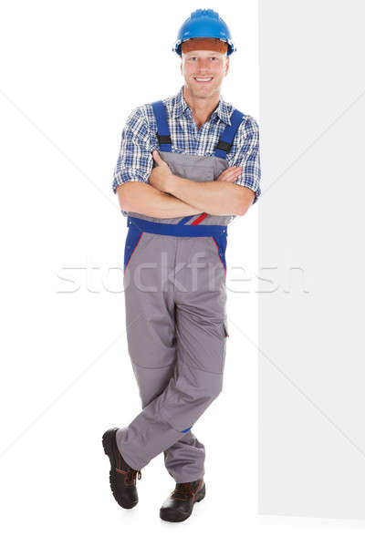 Manual Worker Standing Arms Crossed Stock photo © AndreyPopov
