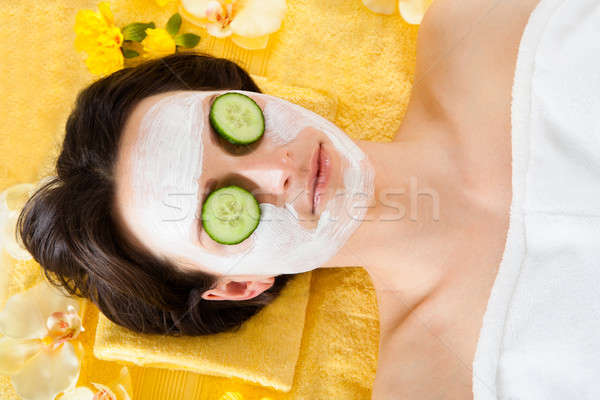 Woman With Face In Beauty Spa Stock photo © AndreyPopov