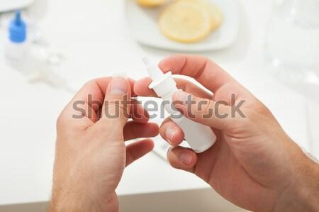 Man Examining Blood Sugar Level Stock photo © AndreyPopov