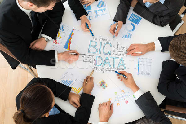 Businesspeople  Planning Bigdata Stock photo © AndreyPopov