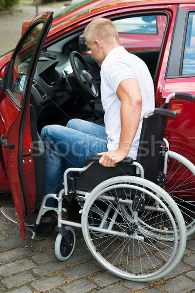 Handicapped Man Boarding In His Car Stock photo © AndreyPopov