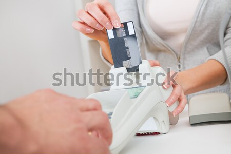 Doctor Check The Blood-sugar Level Stock photo © AndreyPopov