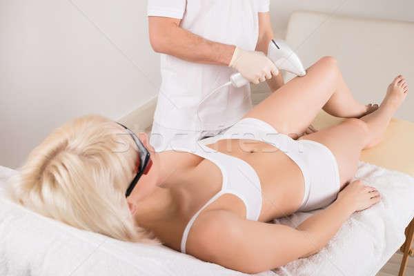 Nő epiláció kezelés lábak fürdő lézer Stock fotó © AndreyPopov