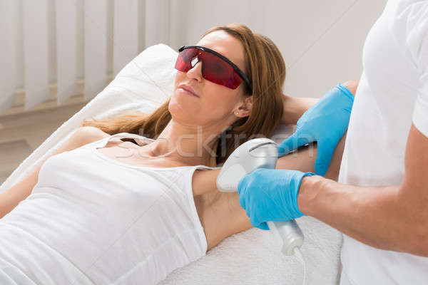 Donna laser capelli rimozione donna matura trattamento Foto d'archivio © AndreyPopov