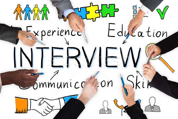 Illustrative Diagram Of Interview Concept Stock photo © AndreyPopov