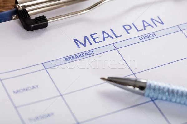 ペン 食事 計画 フォーム クローズアップ フィットネス ストックフォト © AndreyPopov