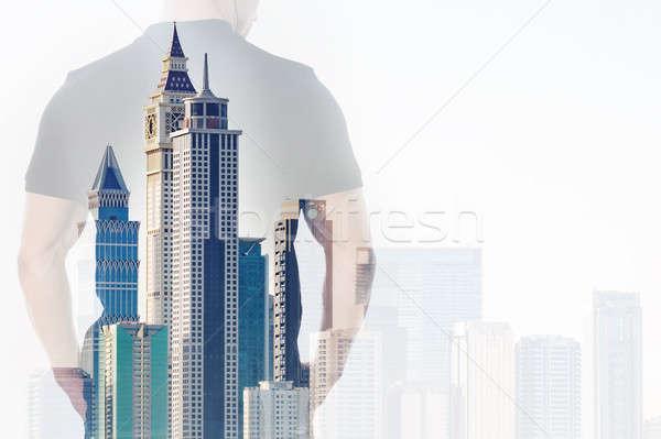 ビジネスマン 手 オフィスビル ダブル 暴露 空 ストックフォト © AndreyPopov