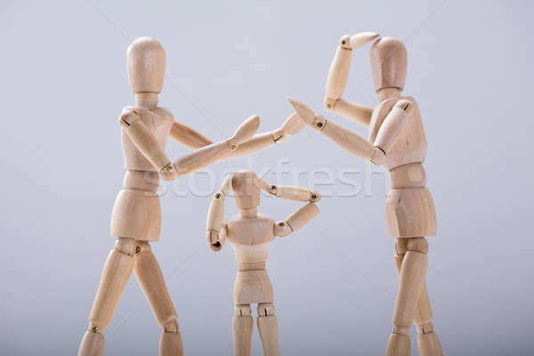 Child Dummy Suffering From Quarrels Between Parents Stock photo © AndreyPopov