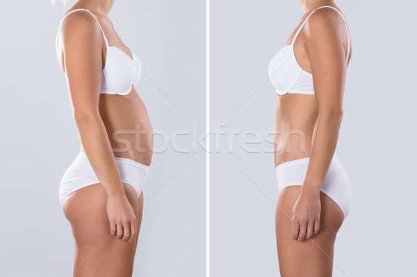 Woman Before And After From Fat To Slim Concept  Stock photo © AndreyPopov