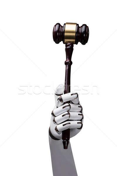Mão gabela branco tecnologia Foto stock © AndreyPopov