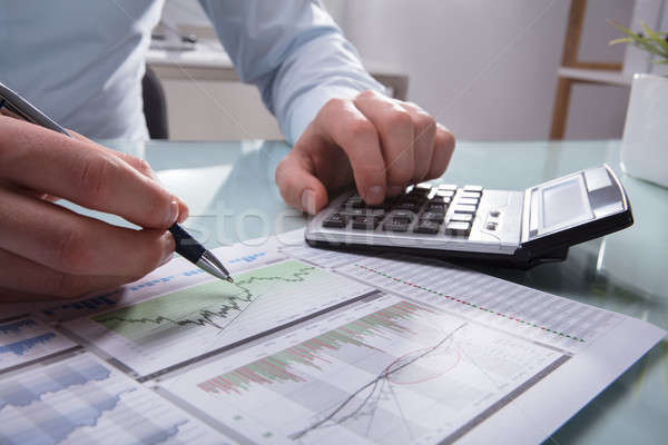 Businessperson Analyzing Graph Stock photo © AndreyPopov