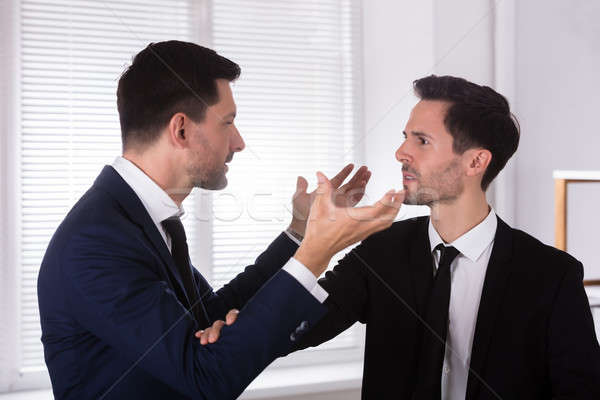Angry Businessman Holding His Partner's Tie Stock photo © AndreyPopov