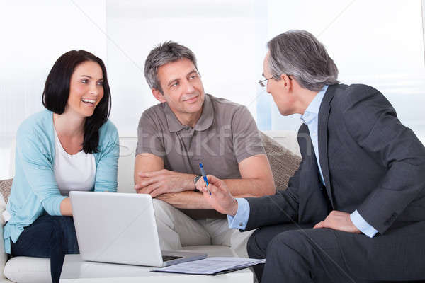 Couple Meeting Consultant Stock photo © AndreyPopov