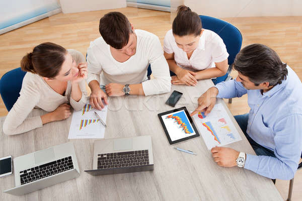 Business Team In Office Meeting Stock photo © AndreyPopov