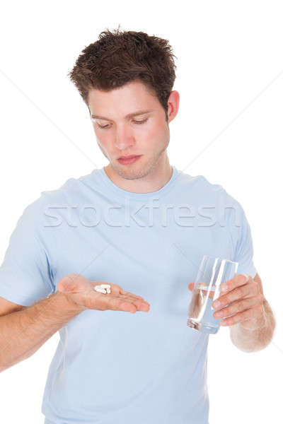 Man Taking Medicines Stock photo © AndreyPopov