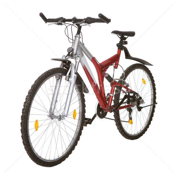 Foto mountain bike isolato bianco sport esercizio Foto d'archivio © AndreyPopov