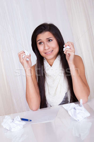 Difficulties finding the right words Stock photo © AndreyPopov