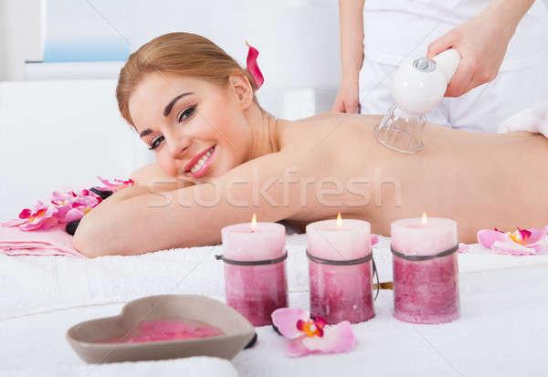 Donna laser terapia sorridere spa Foto d'archivio © AndreyPopov