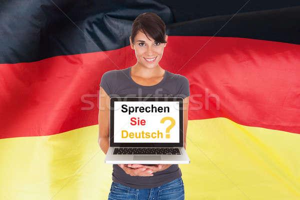 Woman Asking Do You Speak German Stock photo © AndreyPopov