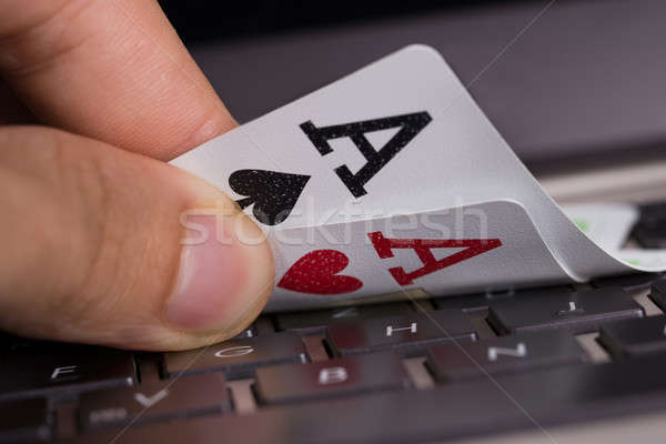 Online gambling concept Stock photo © AndreyPopov
