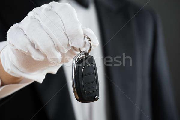 Waiter Holding Car Key Stock photo © AndreyPopov