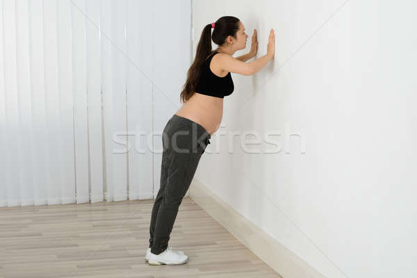 Expecting Woman Doing Workout Stock photo © AndreyPopov
