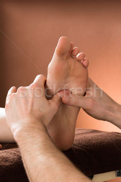 Stock photo: Woman Receiving Foot Massage