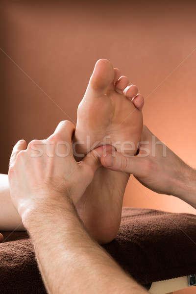 Сток-фото: женщину · ногу · массаж · мужчины · терапевт