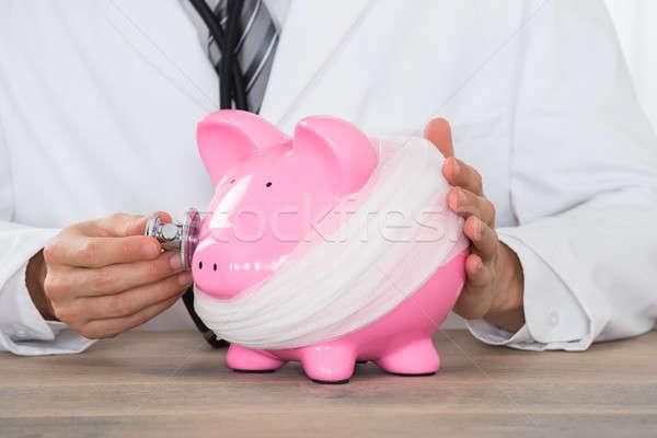 医師 聴診器 ピンク 貯金 包帯 ストックフォト © AndreyPopov