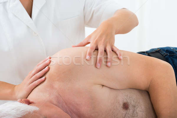 Persoon massage masseuse spa hand Stockfoto © AndreyPopov