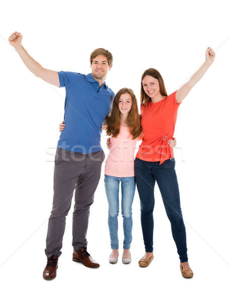 Happy Family Raising Their Arms Stock photo © AndreyPopov