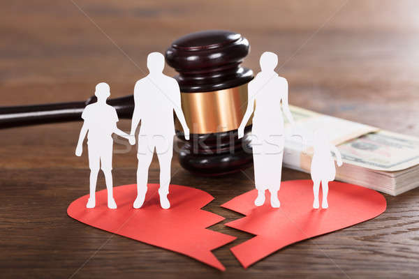 Divorce Concept On Wooden Desk Stock photo © AndreyPopov