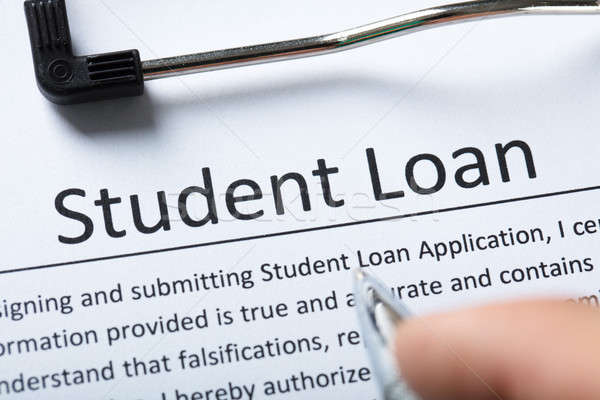 Elevated View Of Student Loan Form Stock photo © AndreyPopov
